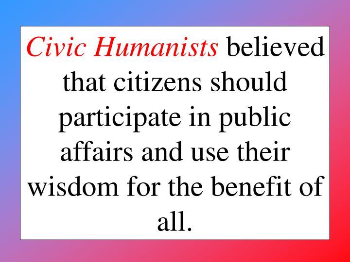 Civic Humanists