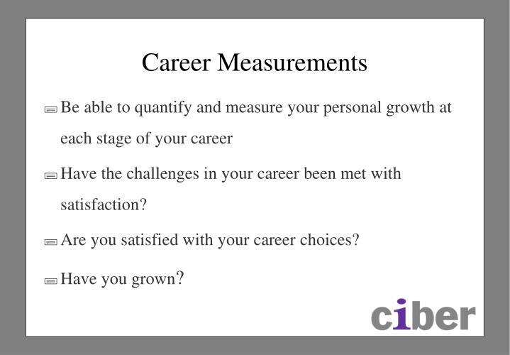 Career Measurements