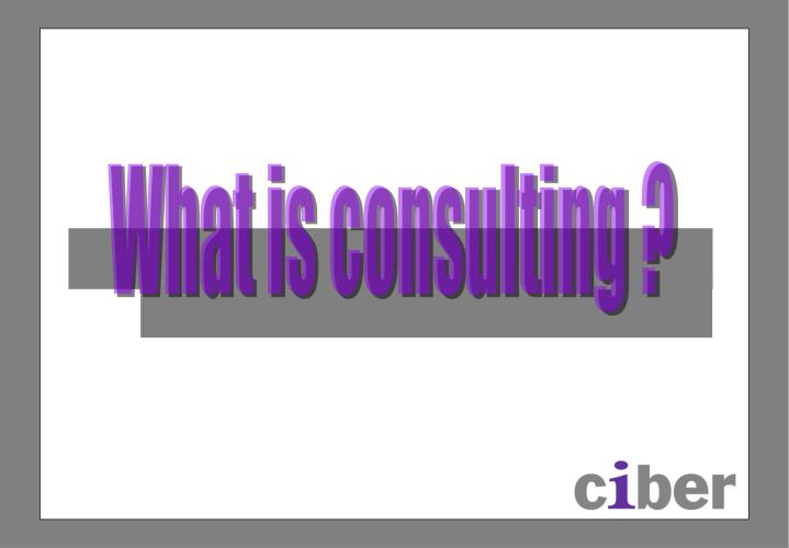What is consulting ?
