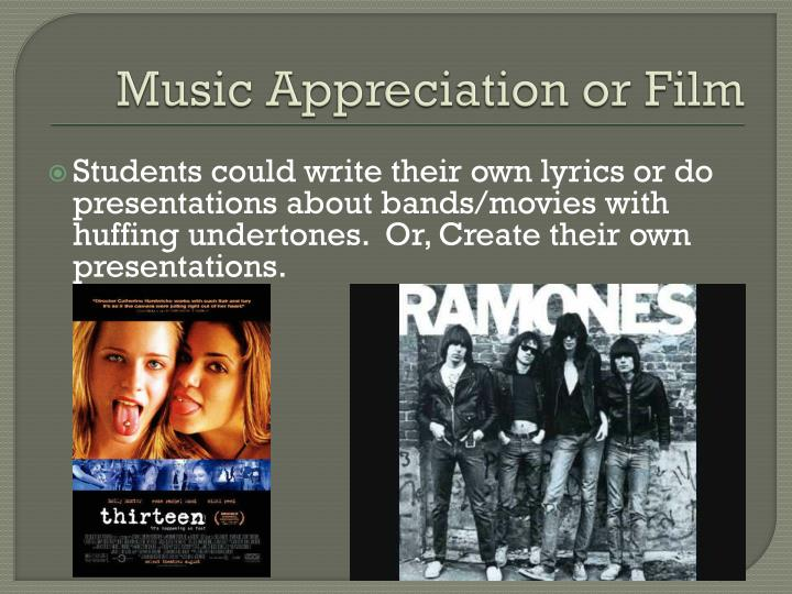 Music Appreciation or Film