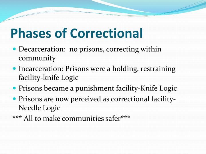 Phases of Correctional