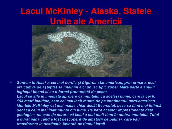 Lacul McKinley - Alaska, Statele Unite ale Americii