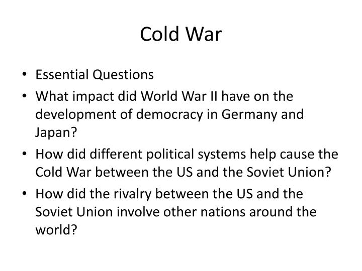 essay on how the cold war began