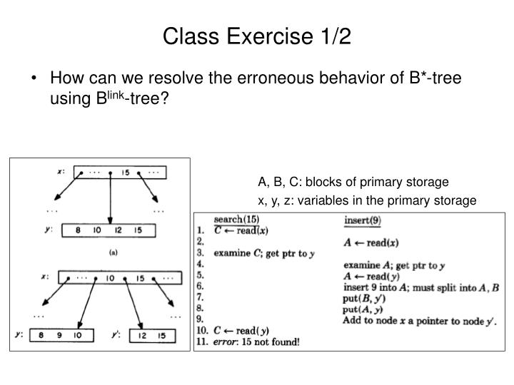 Class Exercise 1/2