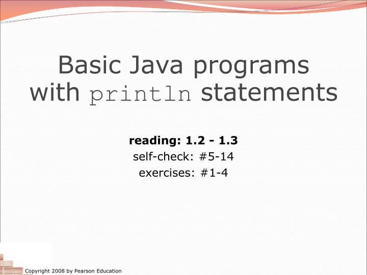 Basic Java programs with