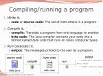 compiling running a program