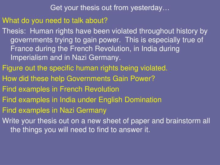 nazi germany thesis