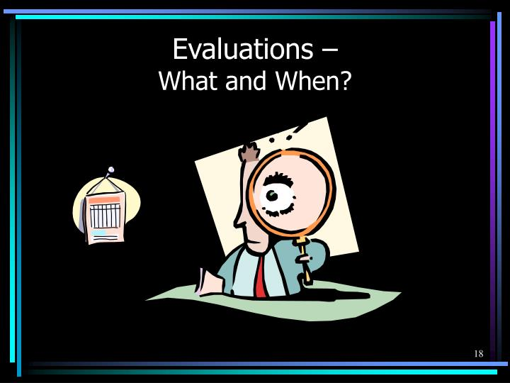 Evaluations –