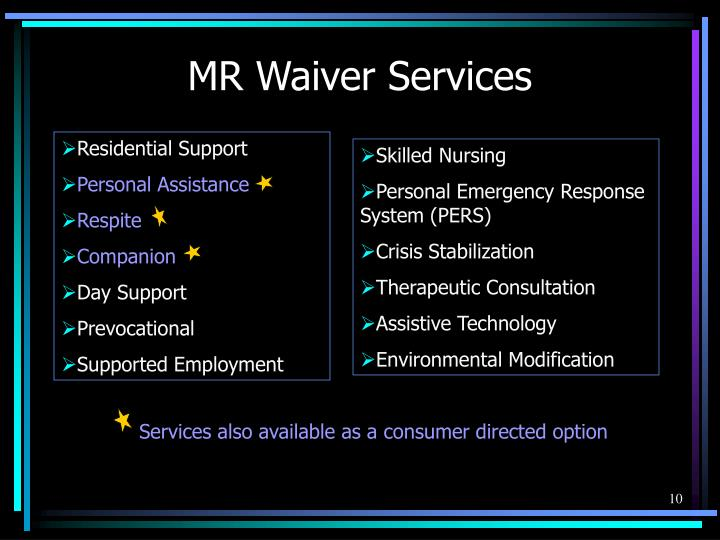 MR Waiver Services