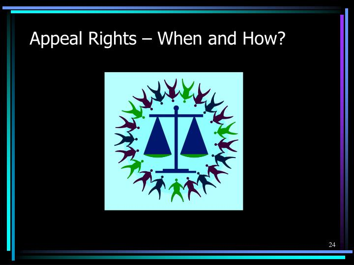 Appeal Rights – When and How?