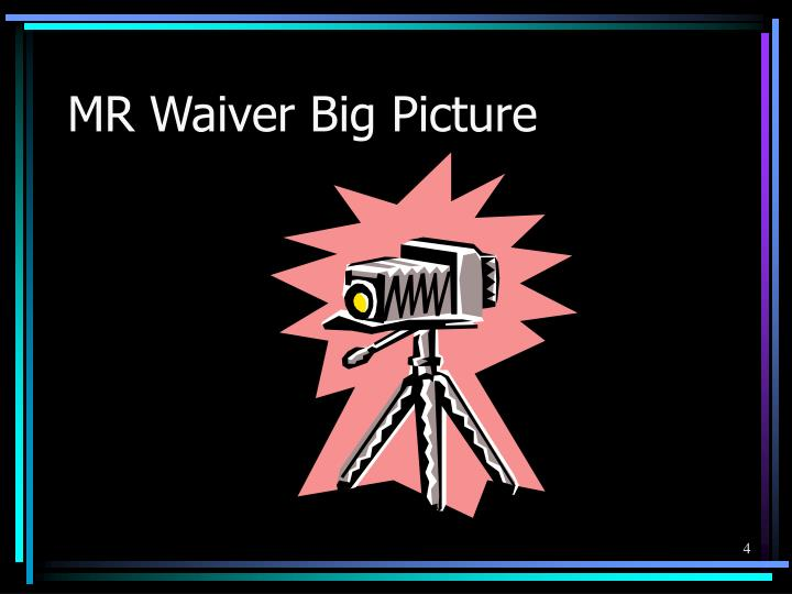 MR Waiver Big Picture