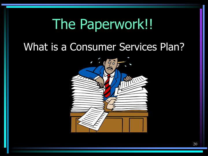 What is a Consumer Services Plan?
