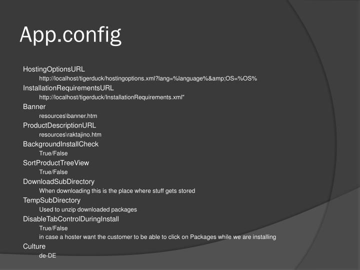 App.config
