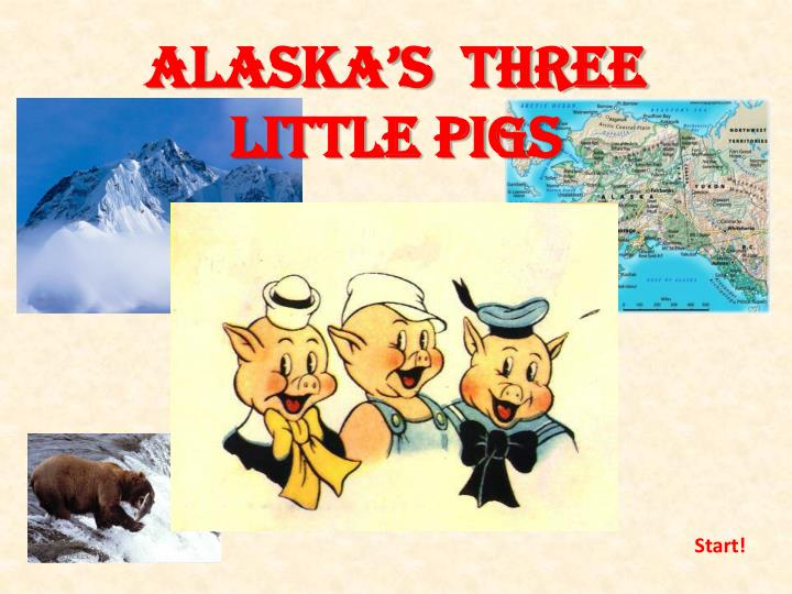 Alaska s three little pigs