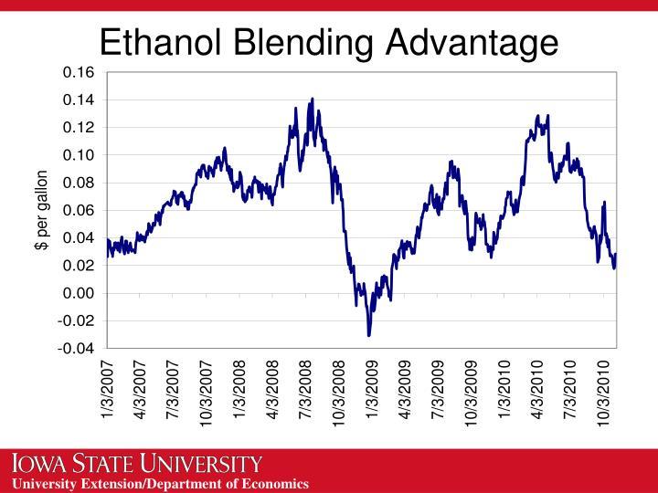 Ethanol Blending Advantage