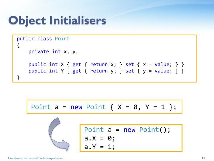 Object Initialisers