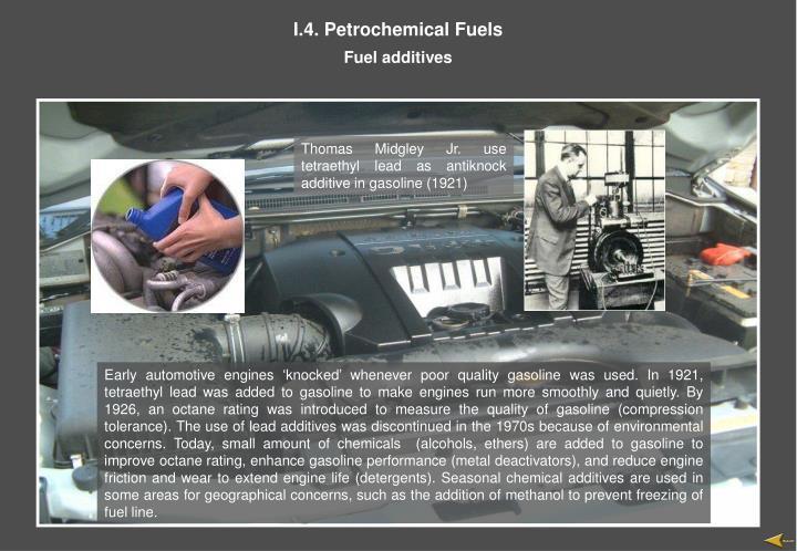 I.4. Petrochemical Fuels