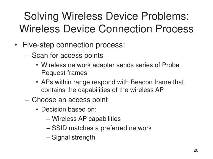 Solving Wireless Device Problems: Wireless Device Connection Process
