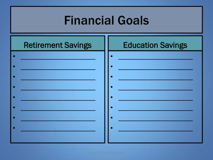 Financial Goals