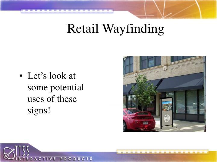 Retail Wayfinding