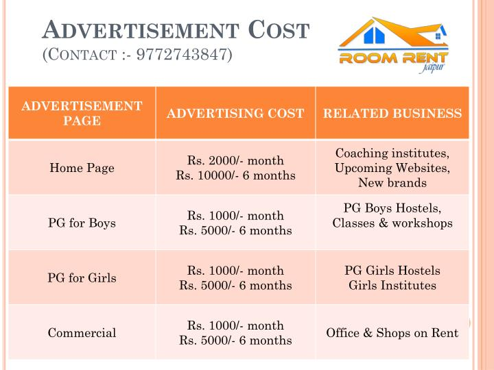 Advertisement cost contact 9772743847
