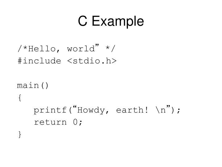 C Example