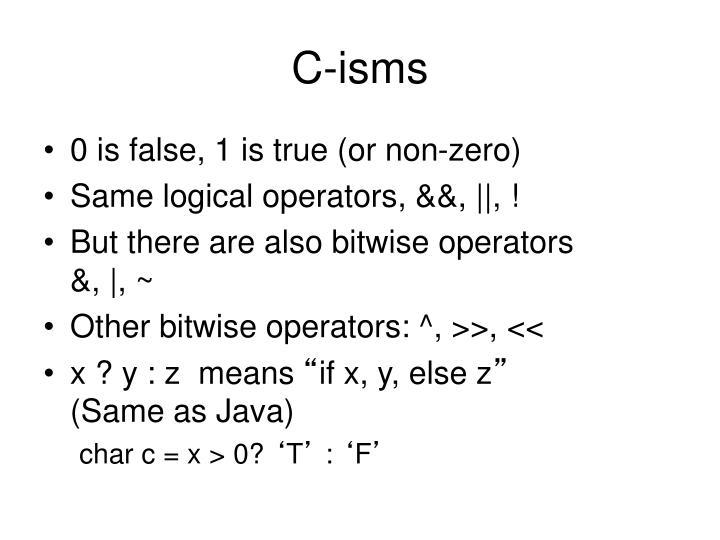 C-isms