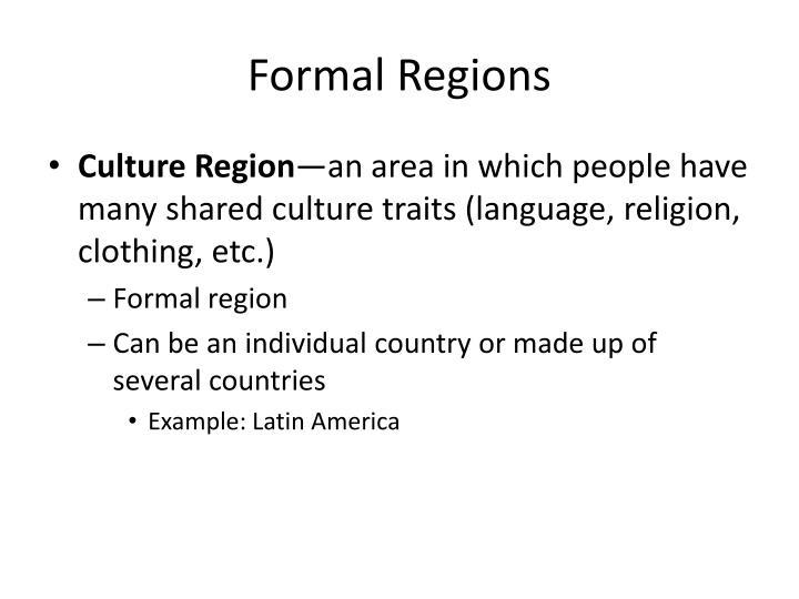 Formal Regions