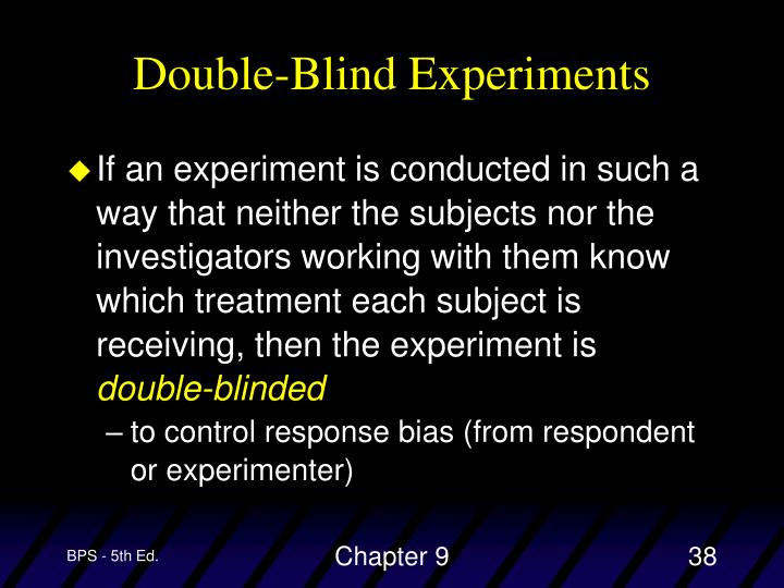 Double-Blind Experiments