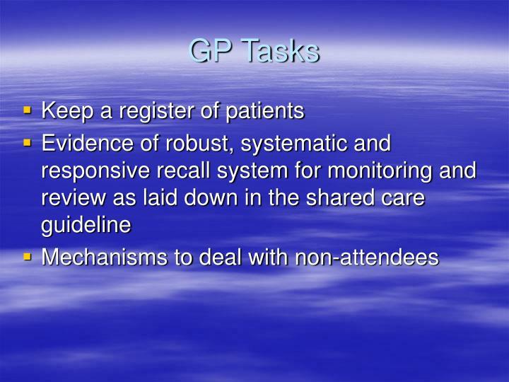 GP Tasks