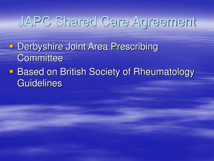 JAPC Shared Care Agreement