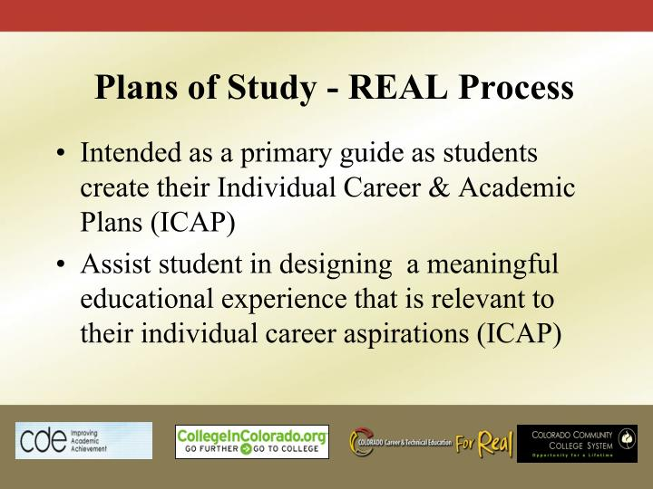 Plans of Study - REAL Process