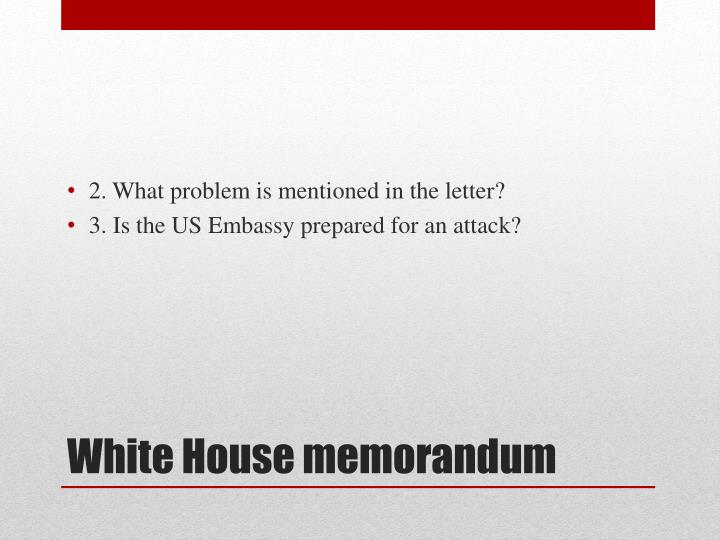 2. What problem is mentioned in the letter?