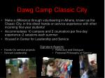 dawg camp classic city