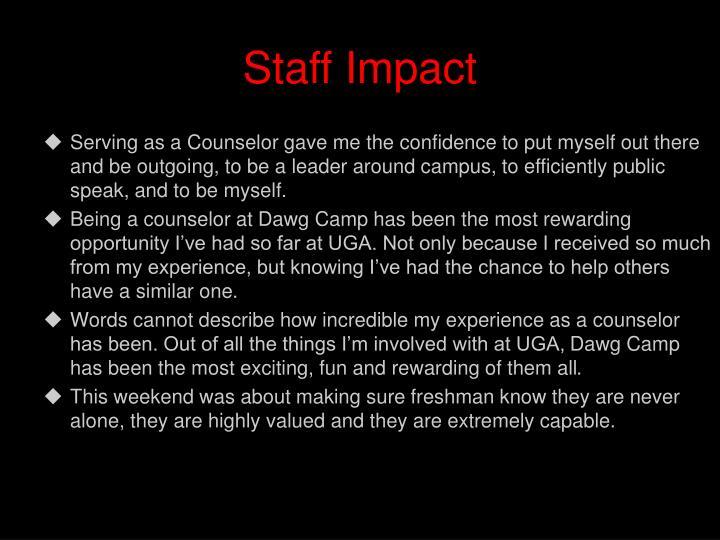 Staff Impact