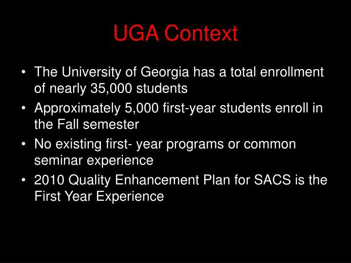UGA Context