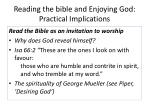 reading the bible and enjoying god practical implications1