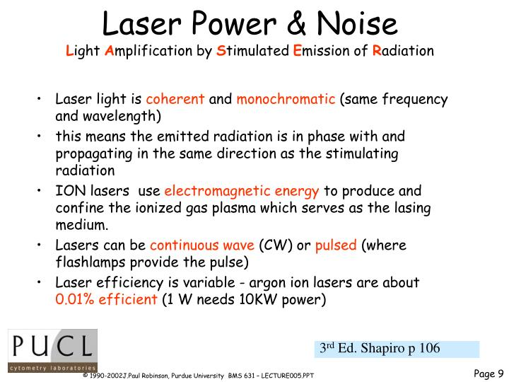 Laser Power & Noise