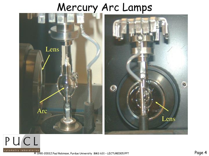 Mercury Arc Lamps