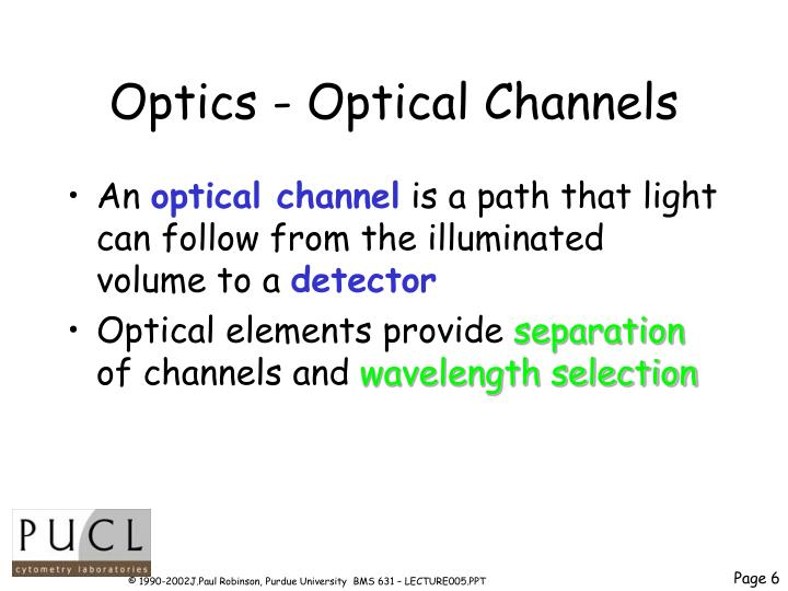 Optics - Optical Channels