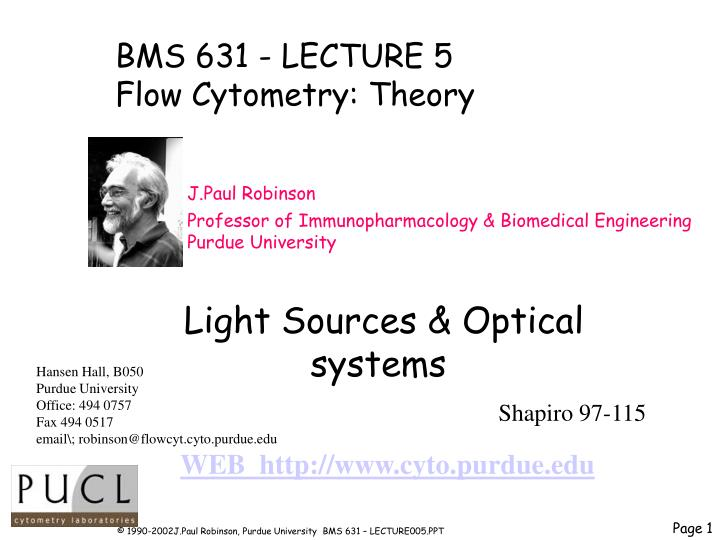 BMS 631 - LECTURE 5