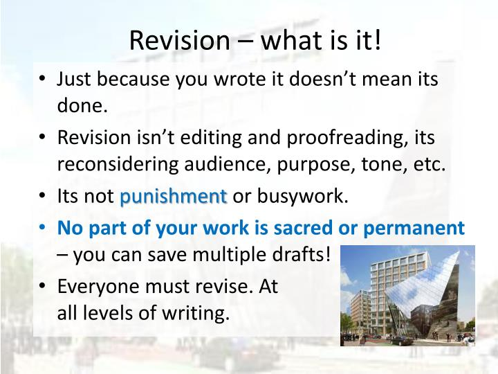 Revision – what is it!