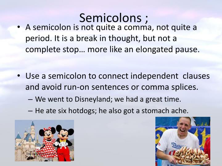 Semicolons ;