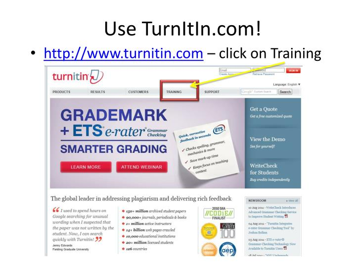 Use TurnItIn.com!