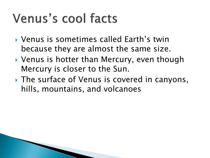 Venus's cool facts
