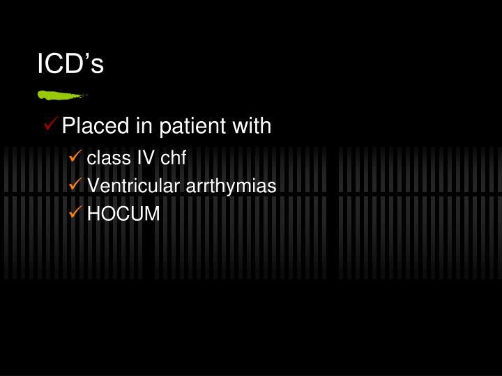 ICD's