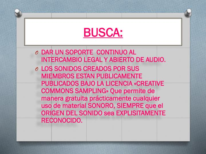 BUSCA: