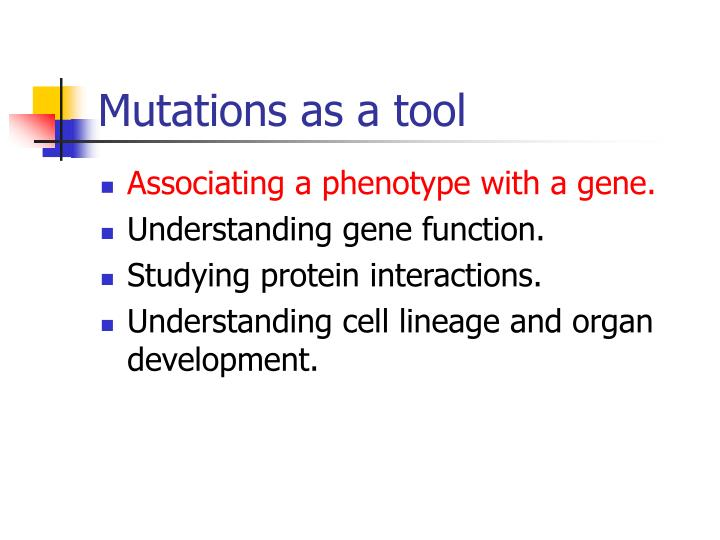 Mutations as a tool
