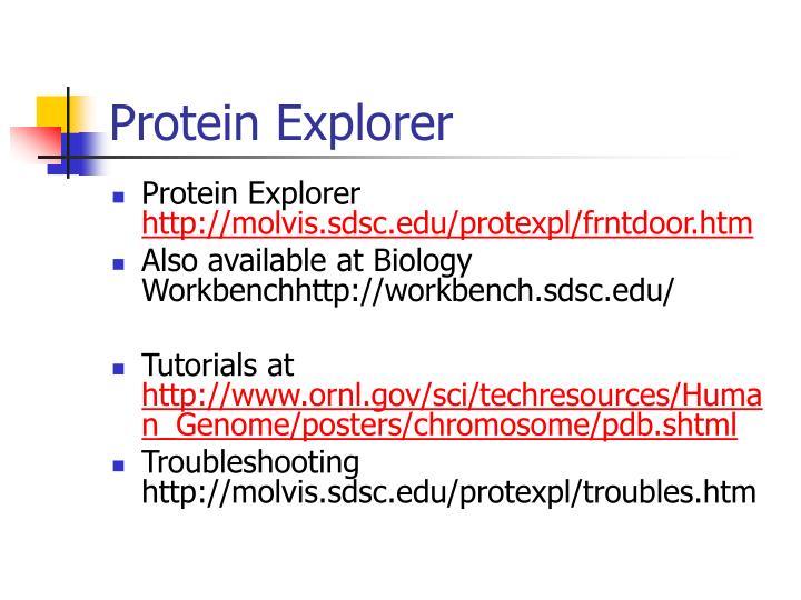 Protein Explorer