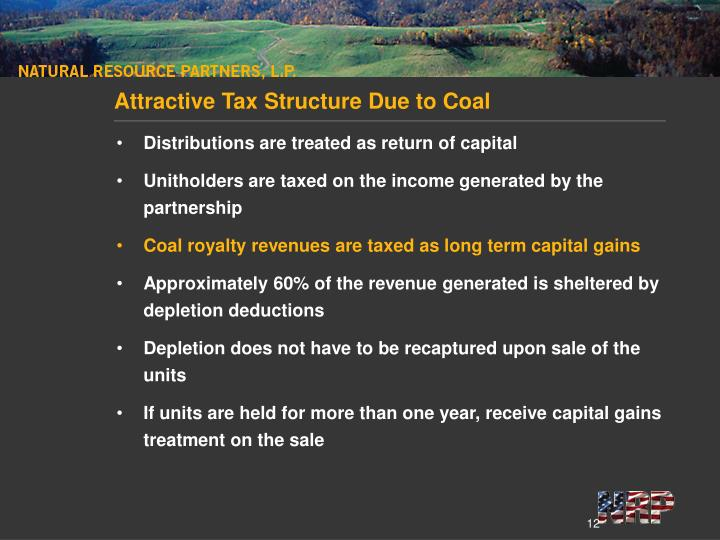 Attractive Tax Structure Due to Coal